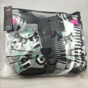 No Boundaries NEW 7pr panda bear socks bundle